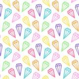 Naadloos patroon met een regenboog daimonds Royalty-vrije Stock Afbeeldingen