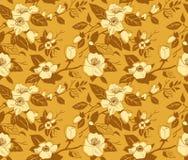 Naadloos patroon met een tak van appelboom Royalty-vrije Stock Afbeeldingen