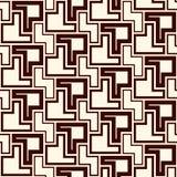 Naadloos patroon met eenvoudig geometrisch ornament De herhaalde creatieve achtergrond van het raadselmozaïek Moderne oppervlakte stock illustratie