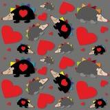 Naadloos patroon met egels Stock Afbeelding