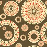 Naadloos patroon met elementen van Russische ornamenten Stock Afbeeldingen