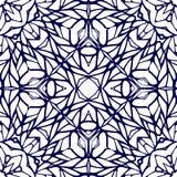 Naadloos patroon met etnisch kantornament Royalty-vrije Stock Afbeeldingen