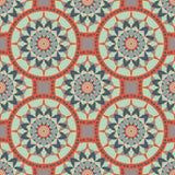 Naadloos patroon met etnisch ornament vector illustratie