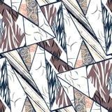 Naadloos patroon-patroon met etnisch patroon, strepen Royalty-vrije Stock Foto