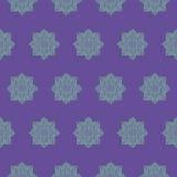 Naadloos patroon met etnische rozetten op een violette achtergrond Stock Foto's