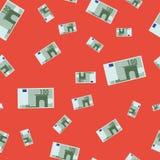 Naadloos patroon met euro bankbiljet royalty-vrije illustratie