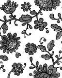 Naadloos patroon met fantasiebloemen Vector abstract naadloos bloemenpatroon Lasepatroon Het malplaatje kan voor behang worden ge royalty-vrije illustratie