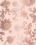 Naadloos patroon met fantasiebloemen Vector abstract naadloos bloemenpatroon Lasepatroon Het malplaatje kan voor behang worden ge vector illustratie