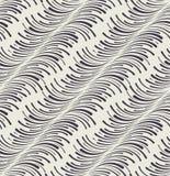 In naadloos patroon met gebogen lijnen Stock Foto's