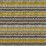 Naadloos patroon met gebreide strepen Royalty-vrije Stock Afbeeldingen