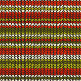 Naadloos patroon met gebreide strepen Stock Fotografie