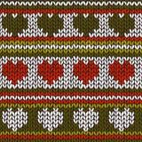 Naadloos patroon met gebreide strepen Stock Afbeelding