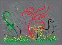 Naadloos patroon met gekleurde bladeren Stock Foto