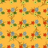 Naadloos patroon met gekleurde bladeren Royalty-vrije Stock Foto