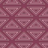 Naadloos patroon met geometrische elementen Donkerrode achtergrond Royalty-vrije Stock Fotografie
