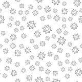 Naadloos patroon met geometrische vormen Royalty-vrije Stock Afbeelding