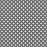 Naadloos patroon met geperforeerde cirkels, rond gemaakte vierkanten Royalty-vrije Stock Foto