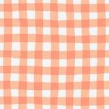 Naadloos patroon met geruite geometrische textuur Stock Foto
