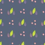 Naadloos patroon met geschilderde bladeren Stock Foto's