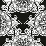 Naadloos patroon met Gestileerde bloemen Etnische achtergrond Royalty-vrije Stock Foto's