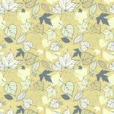 Naadloos patroon met gestileerde decoratieve bladeren Royalty-vrije Stock Foto's