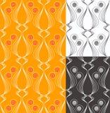 Naadloos patroon met gestileerde kattensilhouetten Stock Foto
