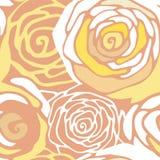 Naadloos patroon met gestileerde rozen Stock Fotografie