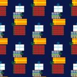Naadloos patroon met giften Stock Foto