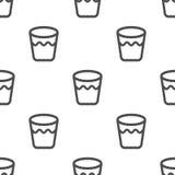 Naadloos patroon met glas met water Stock Foto's
