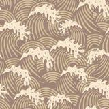 Naadloos patroon met golven Royalty-vrije Stock Foto's