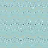 Naadloos patroon met golven Royalty-vrije Illustratie