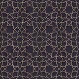 Naadloos patroon met gouden ornament op zwart document Royalty-vrije Stock Foto