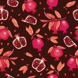 Naadloos patroon met granaatappels Royalty-vrije Stock Fotografie