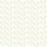 Naadloos patroon met grappige vogels Royalty-vrije Stock Afbeeldingen