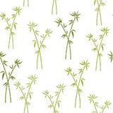 Naadloos patroon met groen bamboe Vectorpatroon voor kussen, hoofdkussen, bandana, hoofddoek, de druk van de sjaalstof De textuur royalty-vrije illustratie