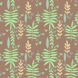 Naadloos patroon met groene bladeren Vector Illustratie