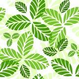 Naadloos patroon met groene bladeren Royalty-vrije Stock Fotografie