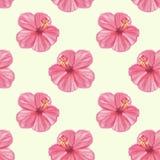 Naadloos patroon met groene bladeren en bloemen Royalty-vrije Stock Afbeelding
