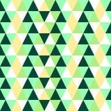Naadloos Patroon met Groene, Gele en Witte Driehoeken Royalty-vrije Stock Afbeelding