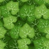 Naadloos patroon met groene pompoenbladeren. Vector Stock Foto's