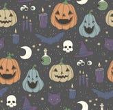 Naadloos patroon met Halloween-pompoen Royalty-vrije Stock Afbeelding
