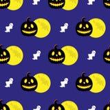 Naadloos patroon met Halloween-symbolen stock illustratie