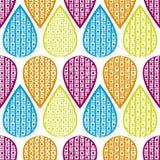 Naadloos patroon met hand-drawn elementen stock illustratie