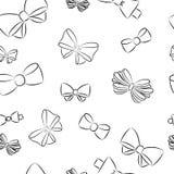 Naadloos patroon met hand getrokken Bogen Stock Afbeelding