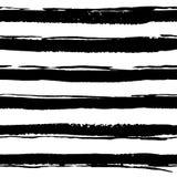 Naadloos patroon met hand getrokken borstelslagen, lijnen Royalty-vrije Stock Foto