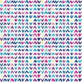 Naadloos patroon met hand getrokken kleurrijke controletekens Vector Illustratie