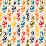 Naadloos patroon met hand getrokken krabbelveren Azteekse vectorelementen voor textiel, druk of behang vector illustratie