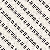 Naadloos patroon met hand getrokken lijnen Abstracte achtergrond met borstelslagen uit de vrije hand Zwart-witte textuur Stock Foto's