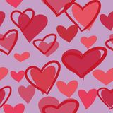 Naadloos patroon met harten vector illustratie