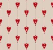 Naadloos patroon met harten Royalty-vrije Stock Afbeeldingen